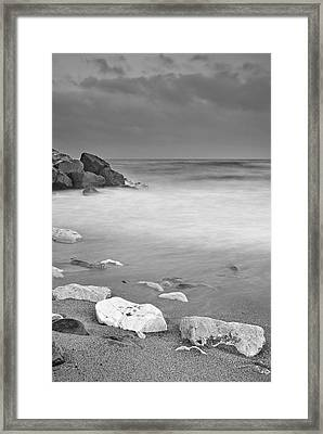 White Stone Framed Print by Guido Montanes Castillo