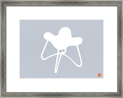 White Stool Framed Print by Naxart Studio
