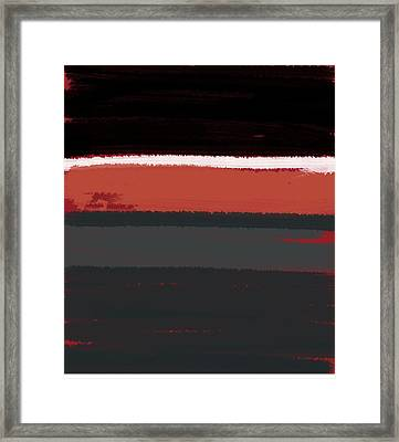 White Stripe Framed Print