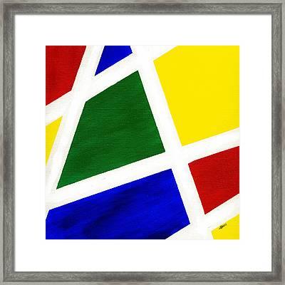 White Stripes 6 Framed Print by Hakon Soreide