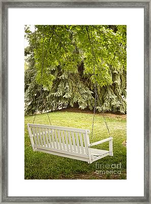 White Swing In The Green Framed Print by James BO  Insogna