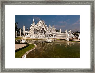 White Temple Framed Print by Adrian Evans