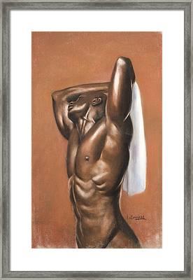 White Towel Framed Print