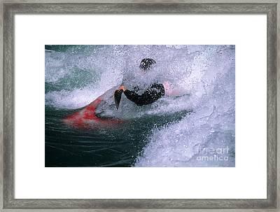 White Water Kayaker Framed Print
