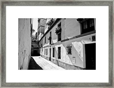 Framed Print featuring the photograph White Way by Rick Bragan