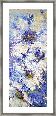 White Wild Roses Framed Print
