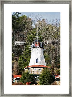 Framed Print featuring the photograph White Windmill by Susan Leggett