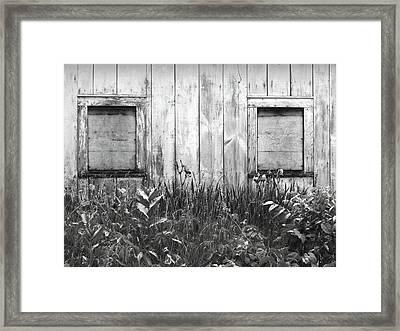 White Windows Framed Print by Anna Villarreal Garbis