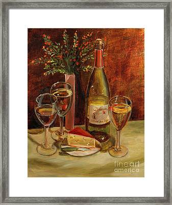 White Wine-dreams Framed Print by Vic  Mastis