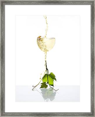 White Wine Framed Print by Floriana Barbu