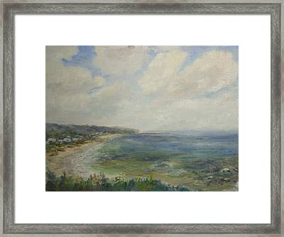 Whitehorse Beach Sunlight Framed Print