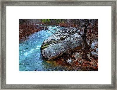 Framed Print featuring the photograph White's Creek by Paul Mashburn