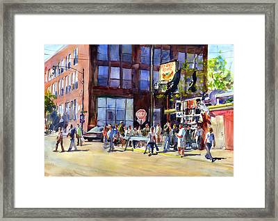 Whitesox Game Morning Thirty Fifth And Normal Framed Print by Gordon France