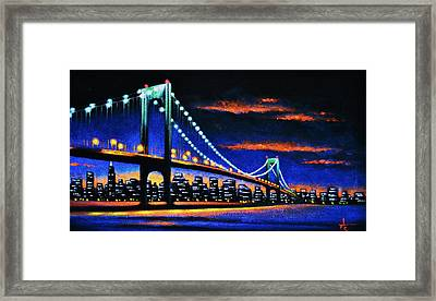 Whitestone Bridge 2 Sold Framed Print