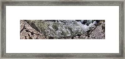 Whitewater And Rock Framed Print by Gregory Scott
