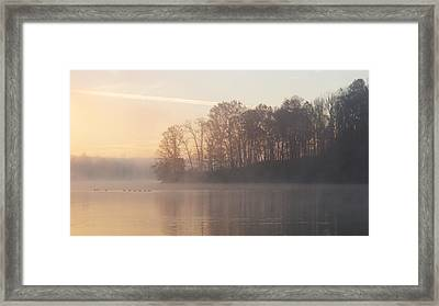Whitewater Mist Framed Print by Rob Amend