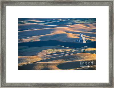 Whitman County Grain Silo Framed Print by Sandra Bronstein