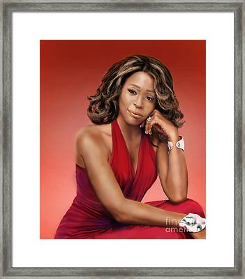 Whitney Houston Framed Print by Reggie Duffie