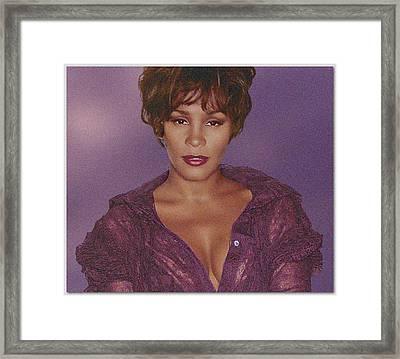 Whitney Houston Song Bird No. 4 Framed Print by De Beall
