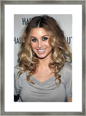 Whitney Port In Attendance Framed Print by Everett