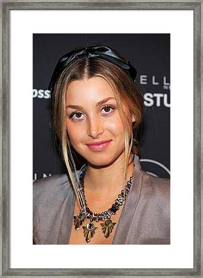 Whitney Port In Attendance For Gen Arts Framed Print