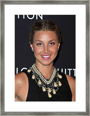 Whitney Port Wearing An Erickson Beamon Framed Print