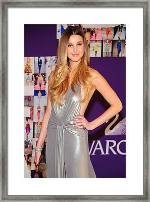 Whitney Port Wearing David Meister Framed Print