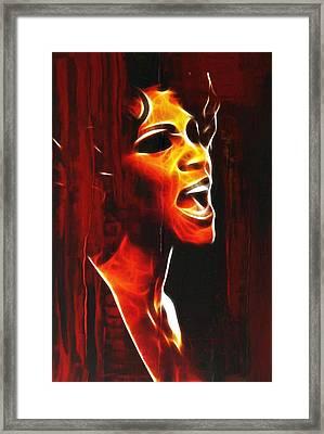 Whitneys Tears Framed Print by Steve K