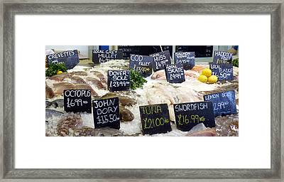 Whitstable Fish Market Framed Print by Carla Parris