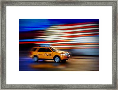 Whizzing Along Framed Print by Susan Candelario