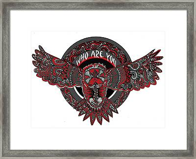 Who Are You Red Framed Print