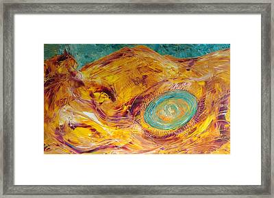 Who S Gonna Ride Your Wild Horses Framed Print by Gunter  Tanzerel