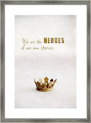 Who To Crown... Framed Print