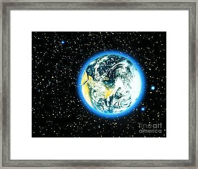 Whole Earth Framed Print