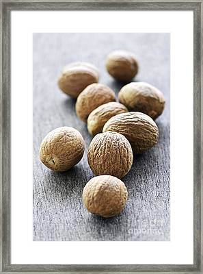 Whole Nutmeg Seeds Framed Print
