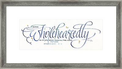 Wholeheartedly Framed Print by Judy Dodds