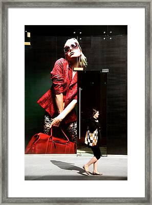 Who's Coy Framed Print by Jez C Self