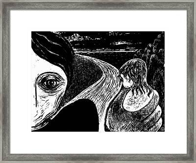 Whos Hand Framed Print