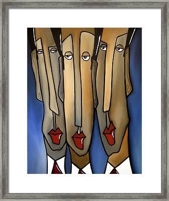 Who's The Boss Framed Print by Tom Fedro - Fidostudio