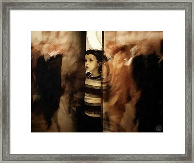 Why Do They Always Rush Framed Print by Gun Legler