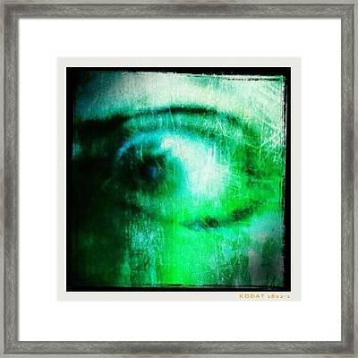 Why Eye - Is My Eye Framed Print