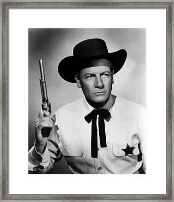 Wichita, Joel Mccrea, 1955 Framed Print