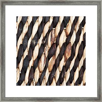 Wicker Background Framed Print