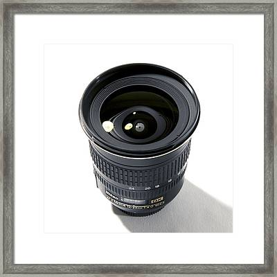 Wide-angle Zoom Camera Lens Framed Print