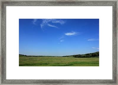 Wide Open Alberta Prairies Framed Print by Jim Sauchyn