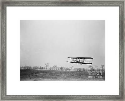 Wilbur Wright Piloting Wright Flyer II Framed Print by Science Source