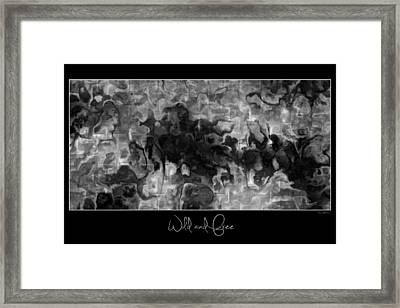 Framed Print featuring the digital art Wild And Free by Kim Redd