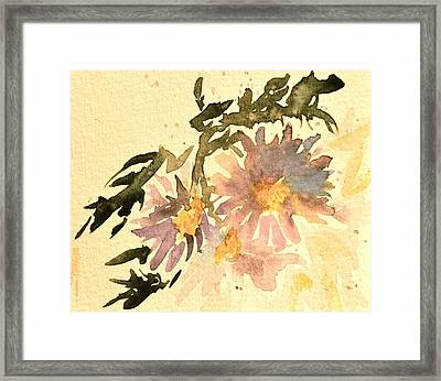 Wild Asters Aged Look Framed Print by Beverley Harper Tinsley