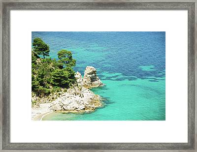 Wild Beach In Aegean Sea Framed Print
