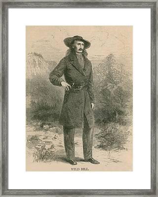 Wild Bill Hickok 1837-1876, Portrait Framed Print by Everett